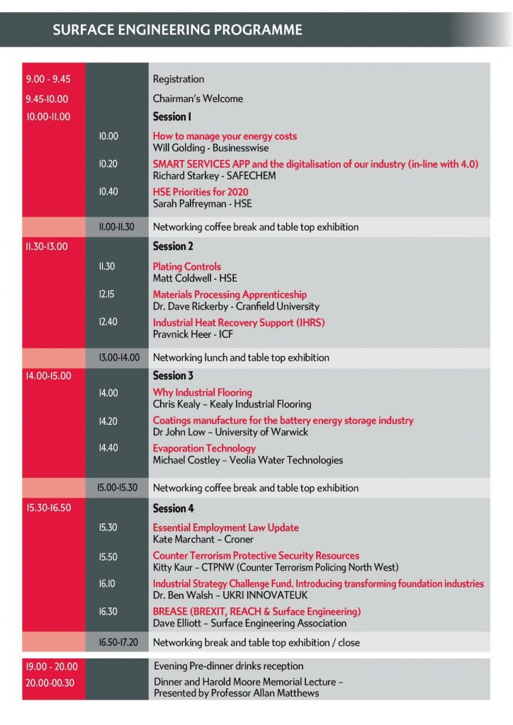 Industry Conference Programme